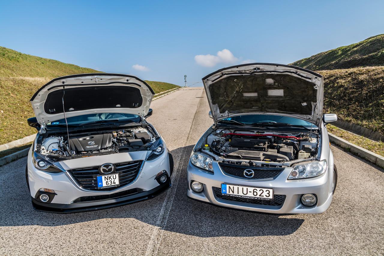 A cspatunknál korábban szolgáló 323F üzemanyag-rendszere már érintett az E10 kapcsán, az őt váltó első Mazda3 (BK) viszont már nem