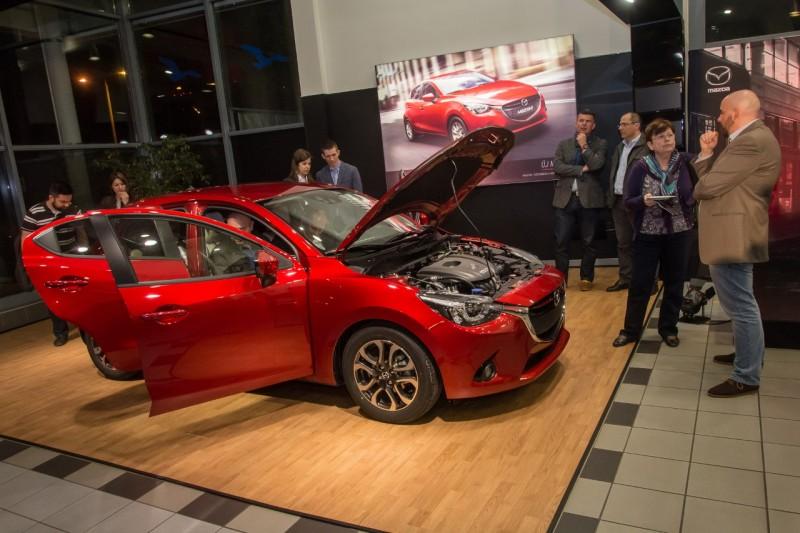 A vendégek tetszését maximálisan elnyerte az új Mazda2 és a bemutató köré felépített műsor