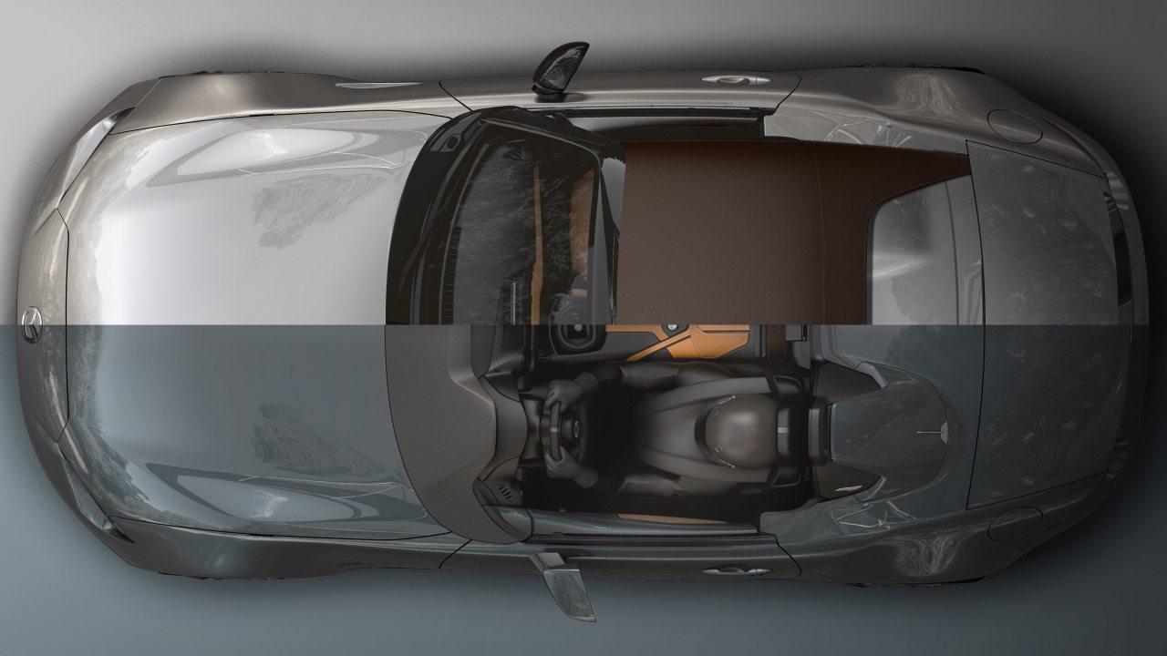 Mindkét tanulmányban az MX-5 kétliteres SKYACTIV-G motorja dolgozik